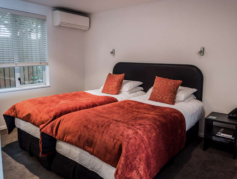 Two Single Twin Beds Executive Twin Studio The Grange Boutique  Motel